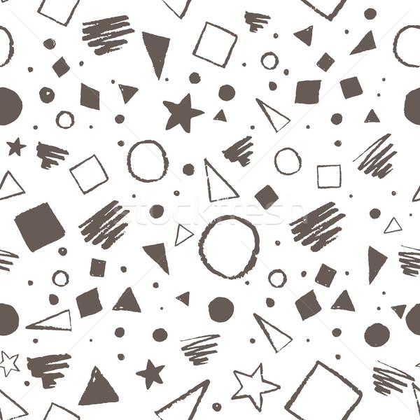 Vintage geometrisch patroon naadloos cirkels pleinen Stockfoto © Sonya_illustrations