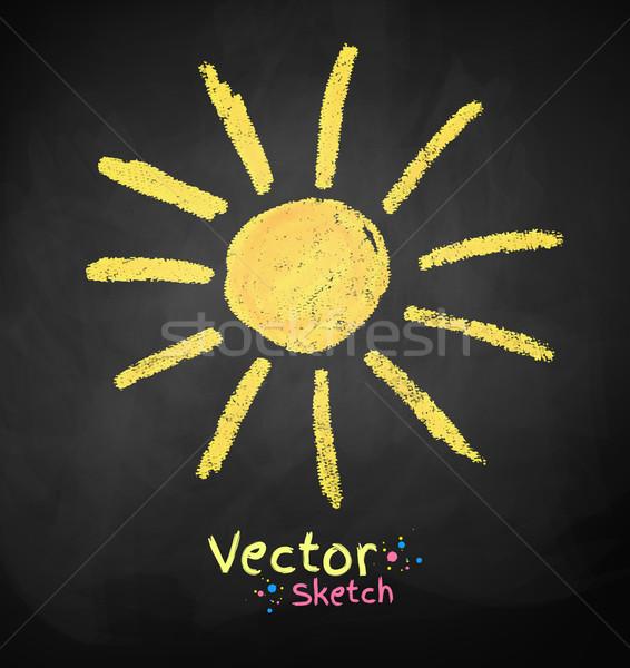 Sol vector pizarra dibujo diseno fondo Foto stock © Sonya_illustrations