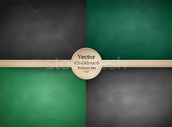 Iskola tábla hátterek vektor gyűjtemény textúra Stock fotó © Sonya_illustrations