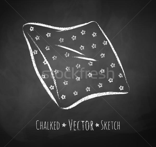 Chalkboard drawing of pillow.  Stock photo © Sonya_illustrations