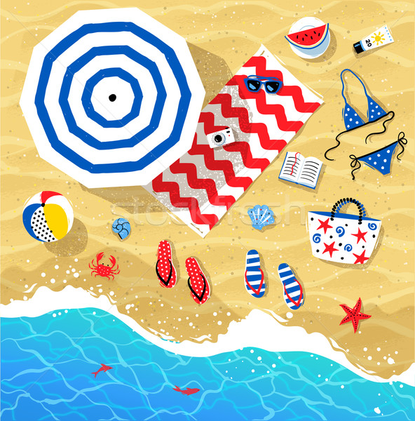 Verano superior vista ilustraciones vector establecer Foto stock © Sonya_illustrations