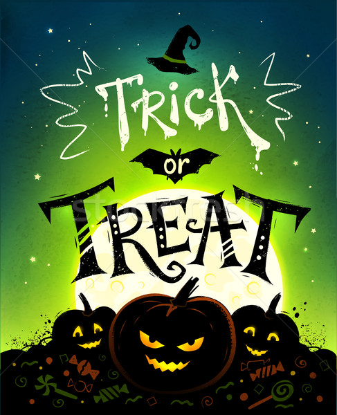 Trick or Treat Halloween poster Stock photo © Sonya_illustrations