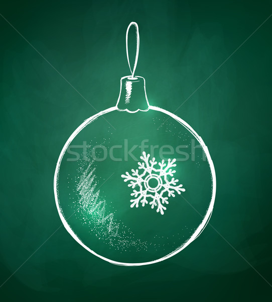 Christmas bal schoolbord tekening textuur winter Stockfoto © Sonya_illustrations