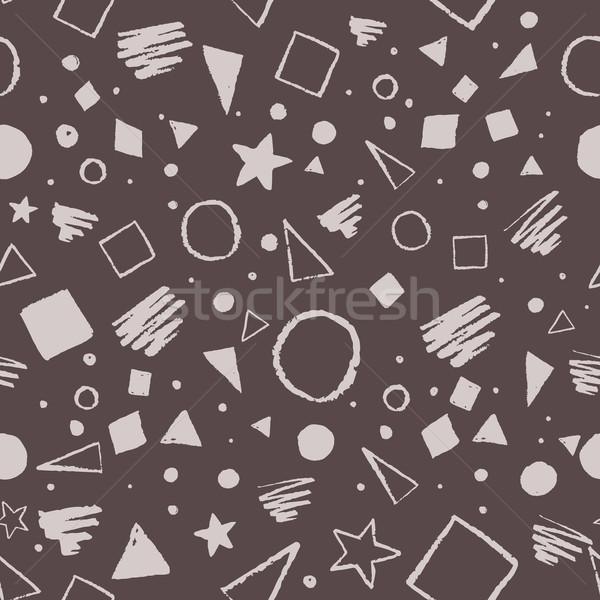 Buio in bianco e nero disegno geometrico vintage senza soluzione di continuità Foto d'archivio © Sonya_illustrations