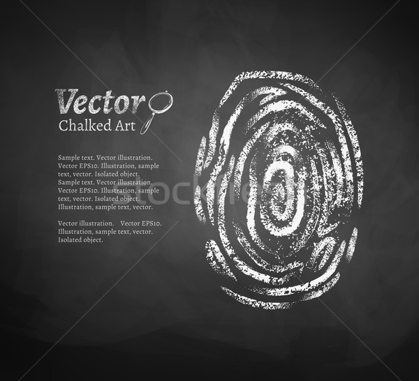 Fingerprint. Stock photo © Sonya_illustrations