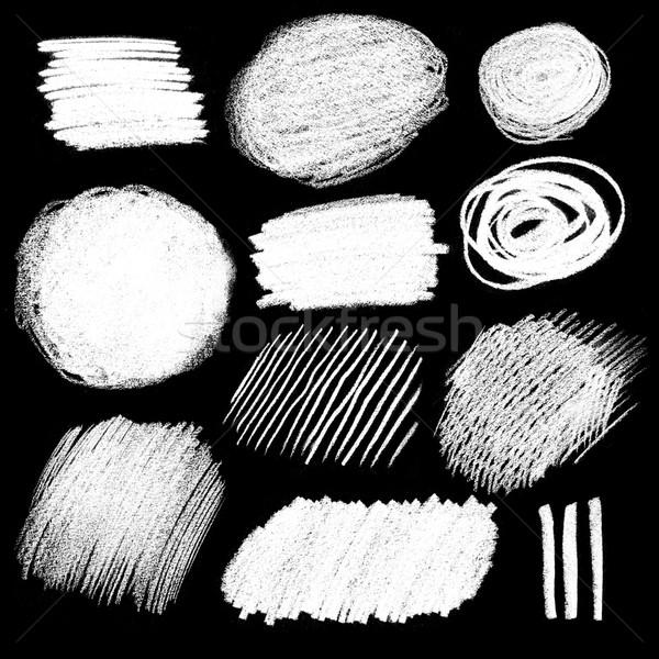 Grunge textúrák gyűjtemény fekete textúra absztrakt Stock fotó © Sonya_illustrations