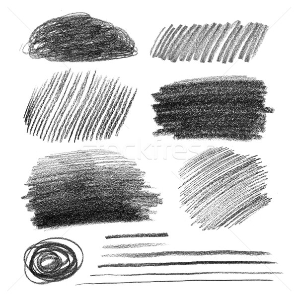 Graphite pencil hatching Stock photo © Sonya_illustrations