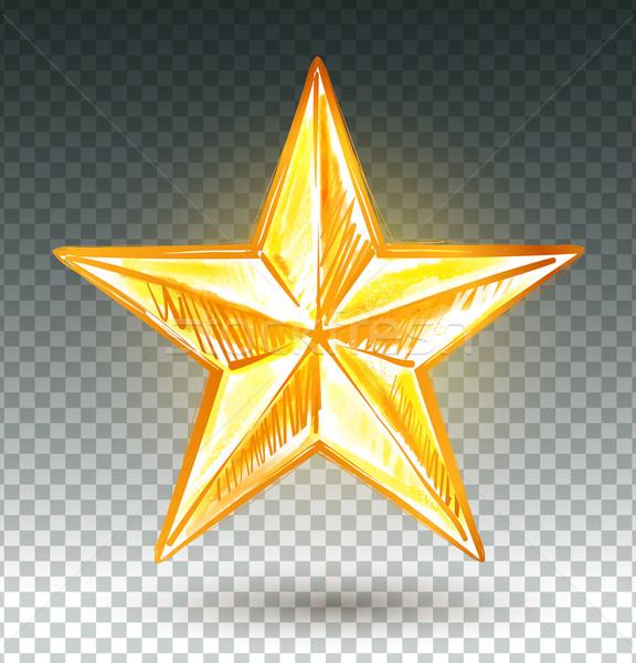 Dourado estrela aquarela inverno cartão Foto stock © Sonya_illustrations