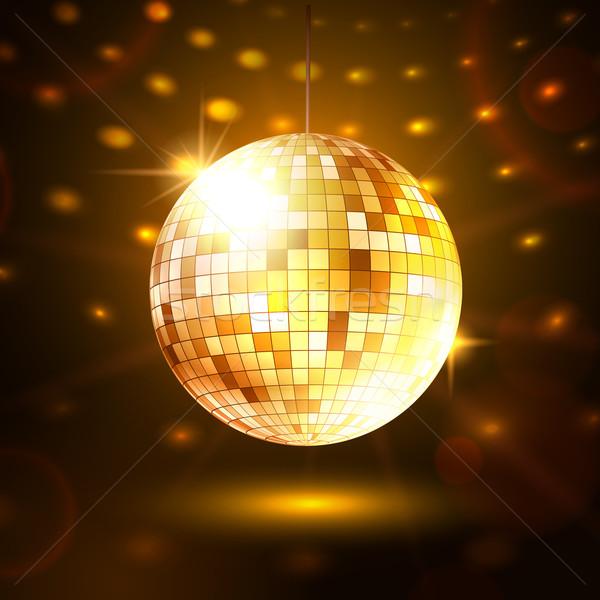 Gold disco ball. Stock photo © Sonya_illustrations