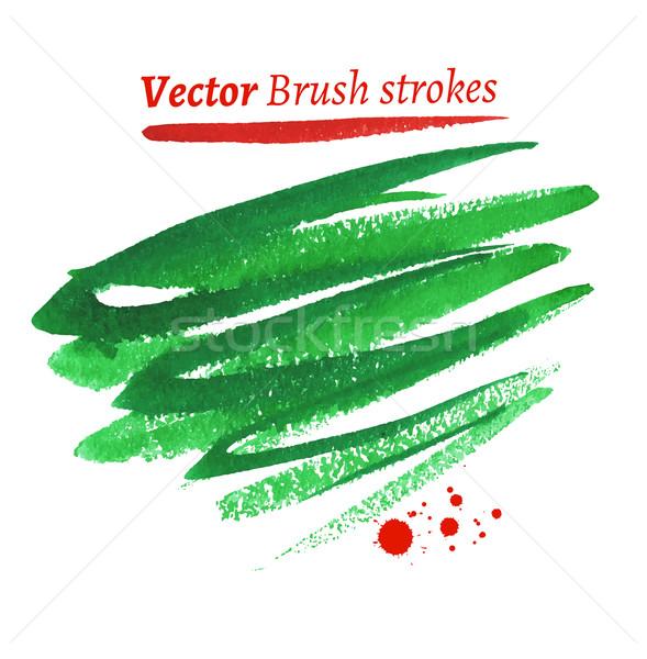 Hand drawn watercolor brush strokes. Stock photo © Sonya_illustrations