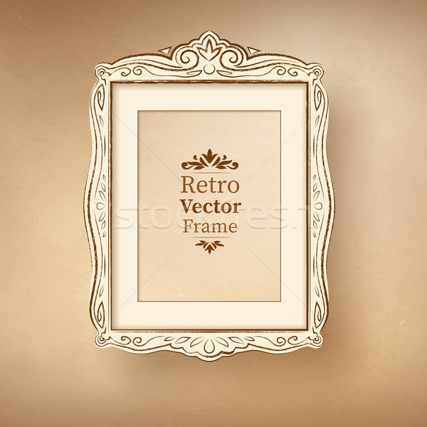 Vintage baroque frame.  Stock photo © Sonya_illustrations