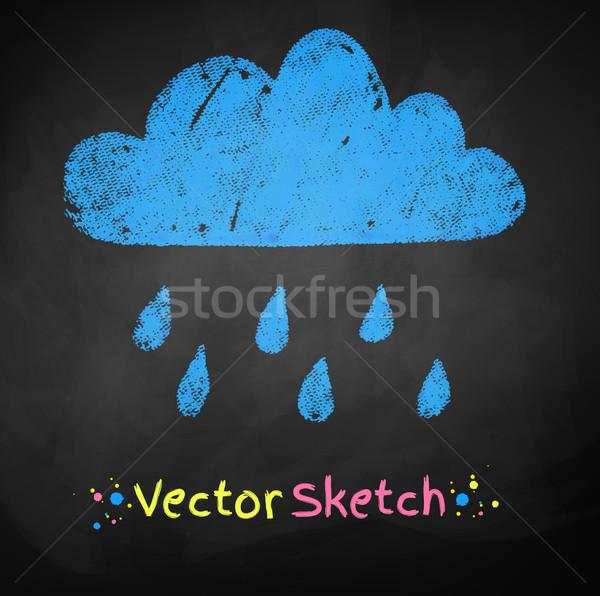 Regenachtig wolk tekening abstract natuur ontwerp Stockfoto © Sonya_illustrations