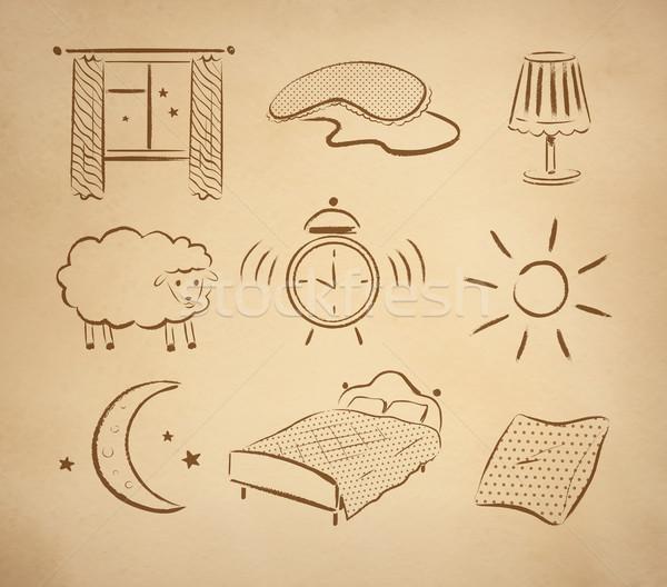 Bedtime vector set. Stock photo © Sonya_illustrations
