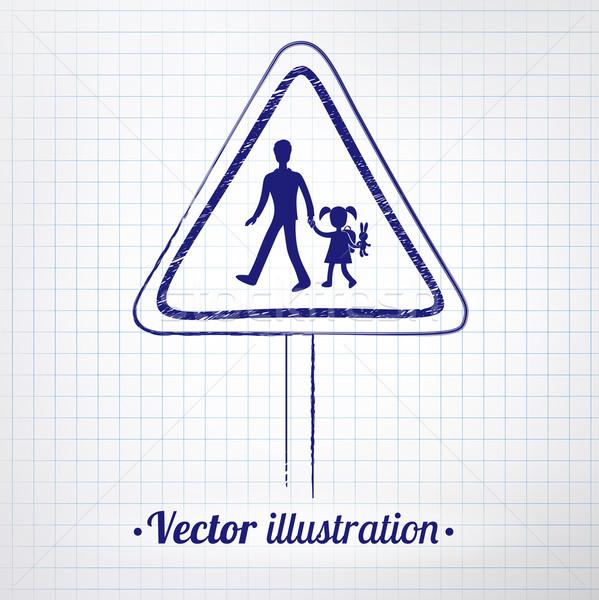商业照片 / 矢量图: 学校 · 警告标志 · 笔记本 · 纸 / school wa