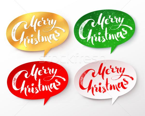 紙 バナー 陽気な クリスマス ベクトル コレクション ストックフォト © Sonya_illustrations