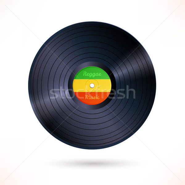 Reggae vinyl record.  Stock photo © Sonya_illustrations