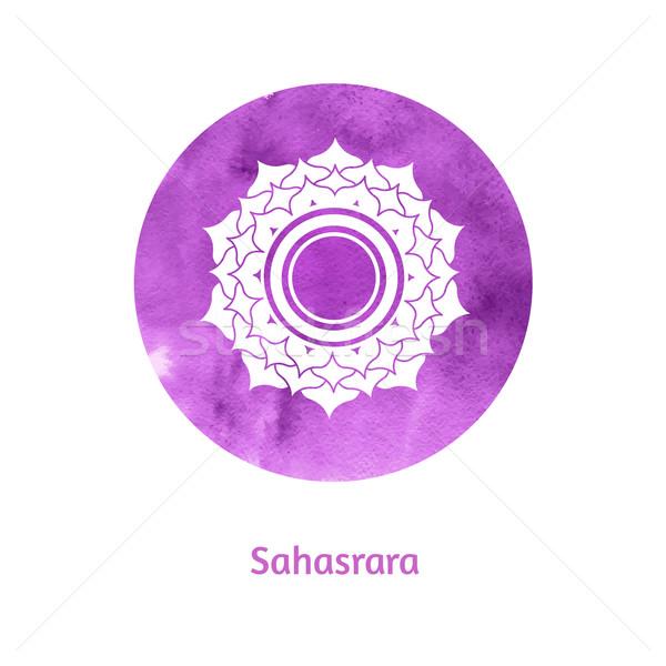 Chakra vettore acquerello illustrazione texture vernice Foto d'archivio © Sonya_illustrations