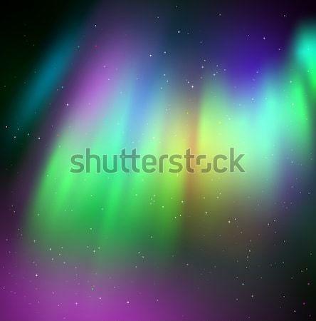 Vector illustration of northern lights Stock photo © Sonya_illustrations