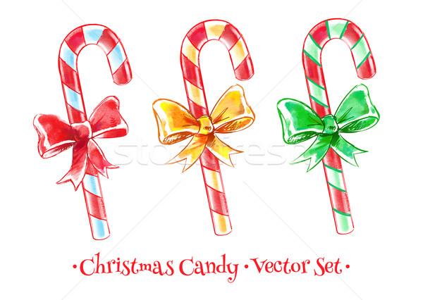 Christmas candy set.  Stock photo © Sonya_illustrations