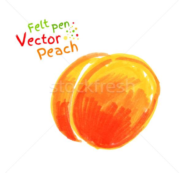 Childlike drawing of peach. Stock photo © Sonya_illustrations