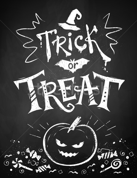 Chalked Trick or Treat poster Stock photo © Sonya_illustrations