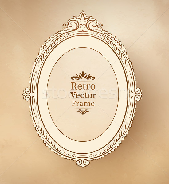 Vintage barroco quadro textura arte Foto stock © Sonya_illustrations