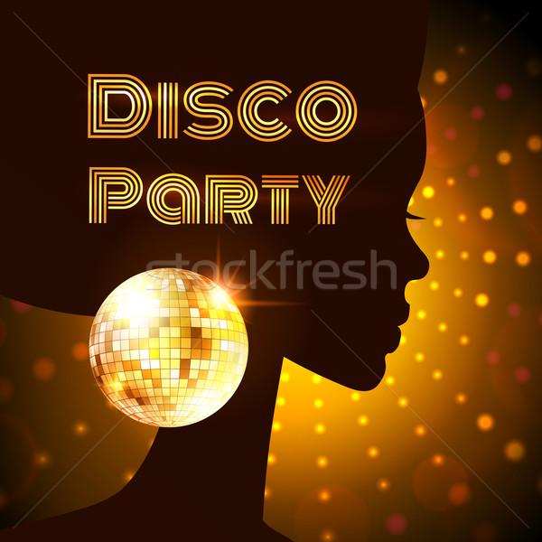 Disco party. Vector illustration. Stock photo © Sonya_illustrations