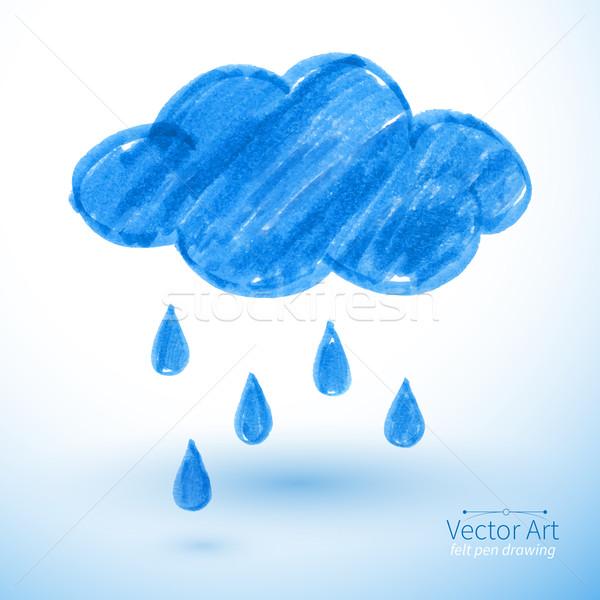 Lluvioso nube pluma dibujo cielo resumen Foto stock © Sonya_illustrations