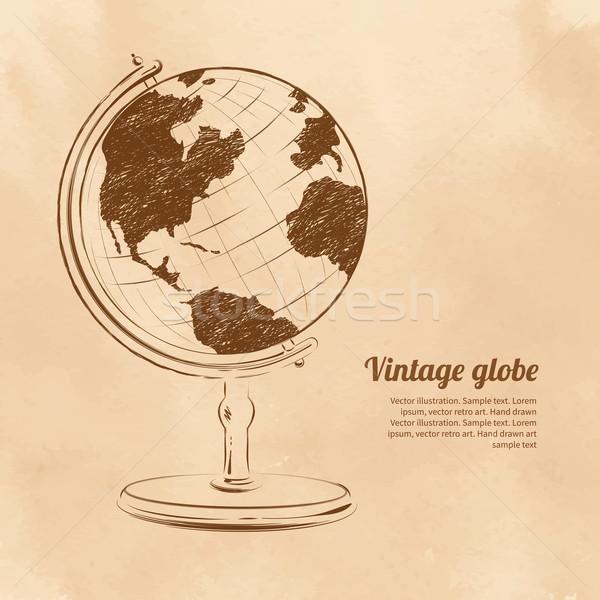 Földgömb klasszikus térkép absztrakt háttér tudomány Stock fotó © Sonya_illustrations