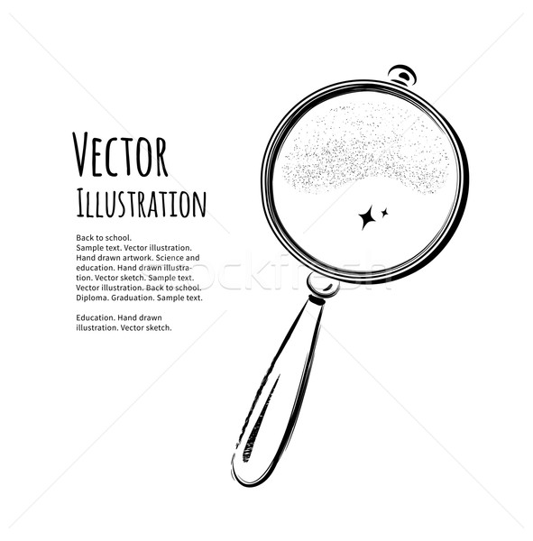 magnifying glass Stock photo © Sonya_illustrations