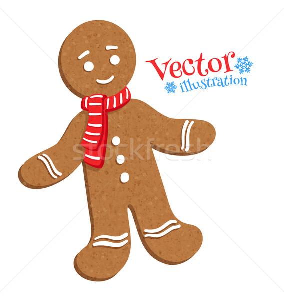 Stock photo: Gingerbread man.