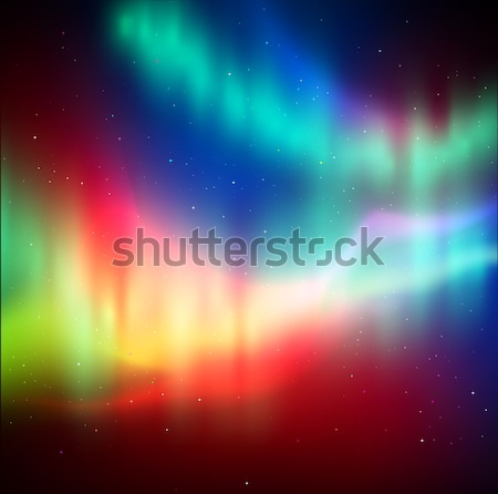 Northern lights background Stock photo © Sonya_illustrations