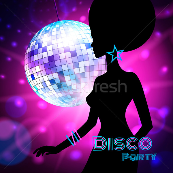 Disco fiesta vector femenino silueta danza Foto stock © Sonya_illustrations