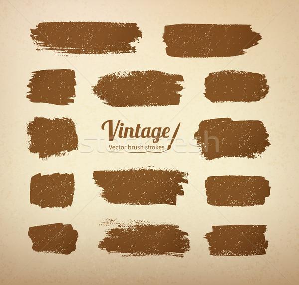 Vintage brush strokes  Stock photo © Sonya_illustrations
