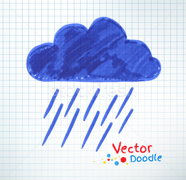 Pouring rain and cloud. Stock photo © Sonya_illustrations