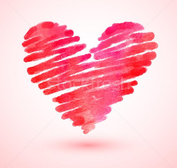 Watercolor scribble heart.  Stock photo © Sonya_illustrations