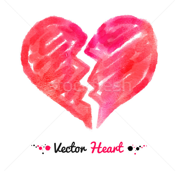 Watercolor broken heart.  Stock photo © Sonya_illustrations