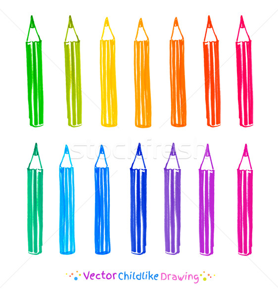 Colorful set of pencils.  Stock photo © Sonya_illustrations