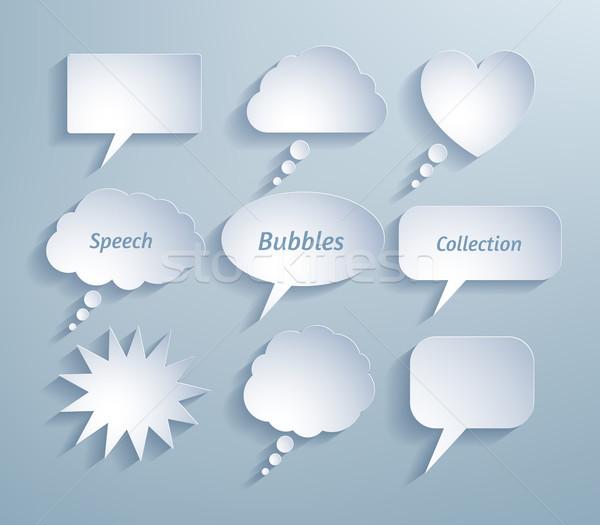 Paper bubble talks.  Stock photo © Sonya_illustrations