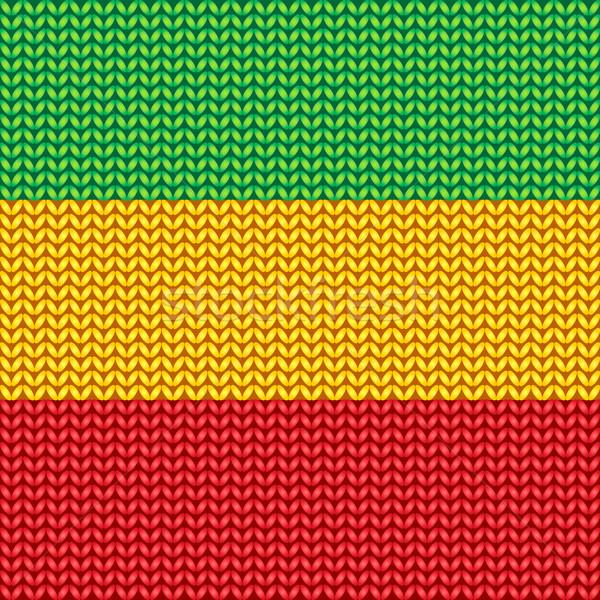 Tricotado reggae padrão vetor música textura Foto stock © Sonya_illustrations