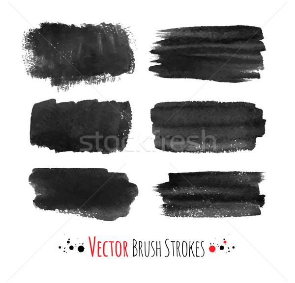 Hand drawn brush strokes. Stock photo © Sonya_illustrations