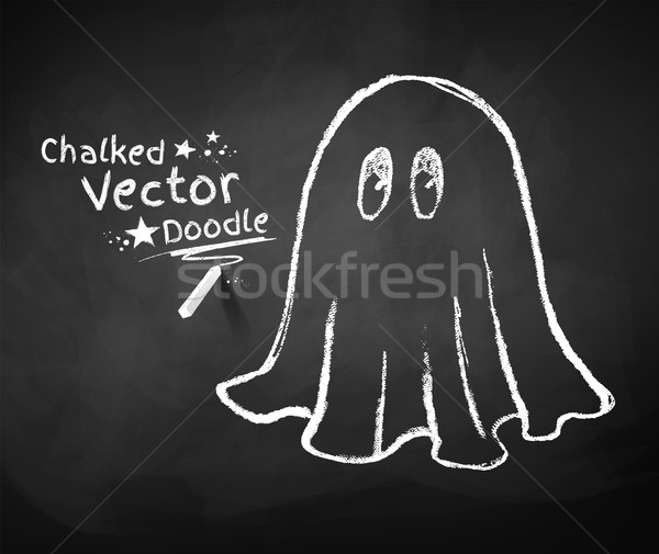 Chalkboard drawing of ghost. Stock photo © Sonya_illustrations