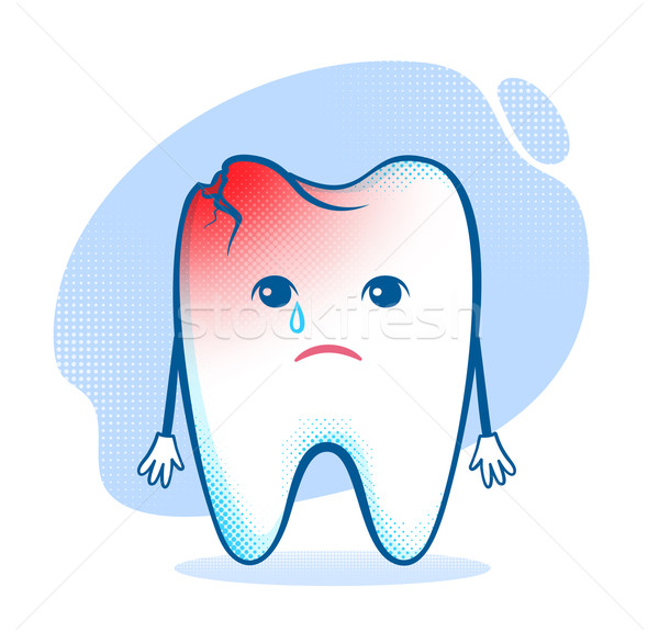 Tooth character.  Stock photo © Sonya_illustrations
