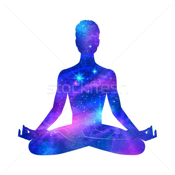 Meditation.  Stock photo © Sonya_illustrations