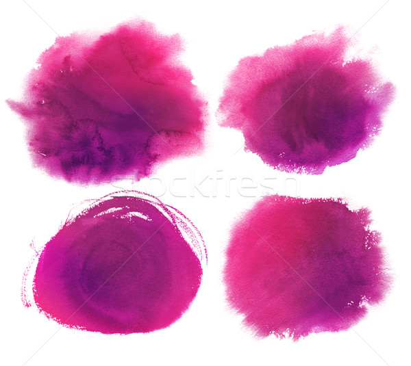 Purple watercolor stains collection. Stock photo © Sonya_illustrations