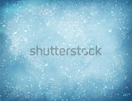 Christmas background with falling snow. Stock photo © Sonya_illustrations
