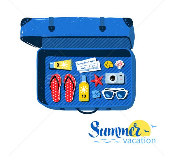 旅行 スーツケース 夏 先頭 表示 ストックフォト © Sonya_illustrations