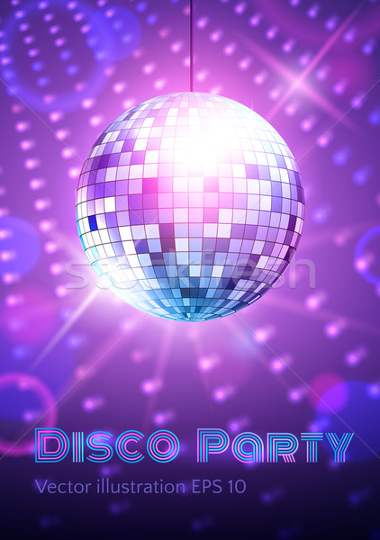 Disco ball disco lichten muziek dans licht Stockfoto © Sonya_illustrations