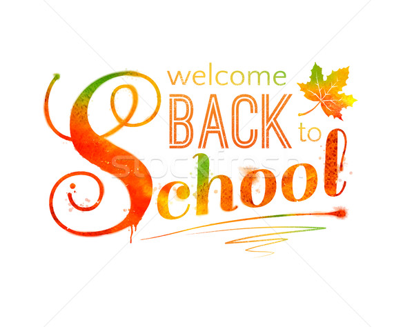 Back to School Stock photo © Sonya_illustrations