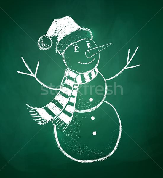 Stock photo: Snowman